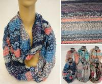Extra-Wide Light Weight Infinity Scarf: Floral-Paisley Multiprint